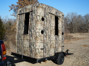 Ground blinds deer stands hunting blinds portable blinds realtree - Mobile Hunting Trailers Blinds Realtree Portable Blinds
