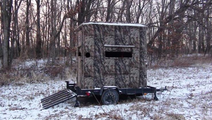 Portable Trailer Deer Hunting Blinds : Deer blinds portable stands ground